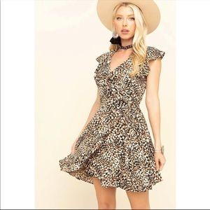 FREE PEOPLE French Quarter Print Wrap Dress Sz XL